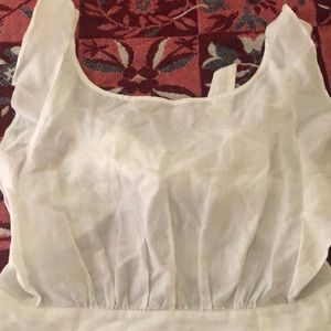 All white Ruffle sun dress from Free People